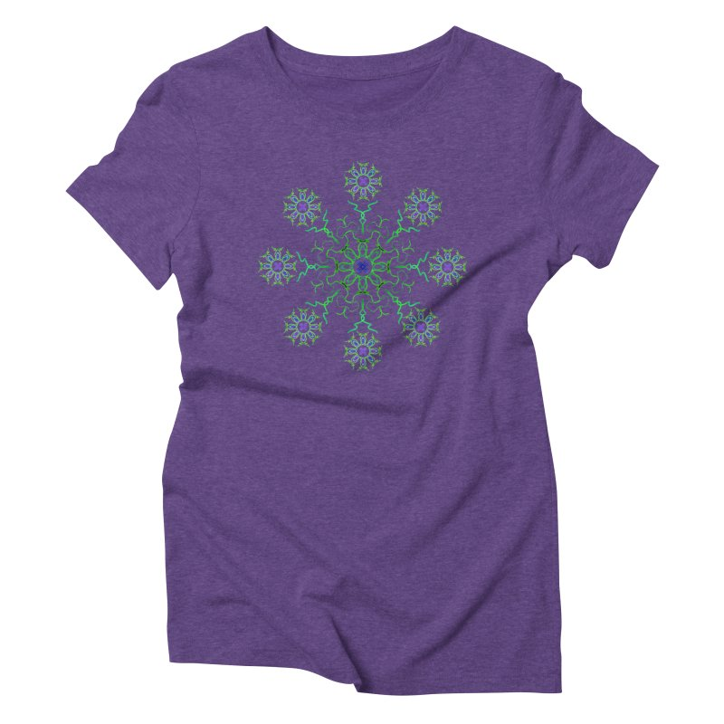 FlowerBurst Women's Triblend T-Shirt by dotdotdottshirts's and textiles Artist Shop