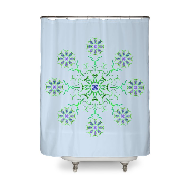 FlowerBurst Home Shower Curtain by dotdotdottshirts's and textiles Artist Shop