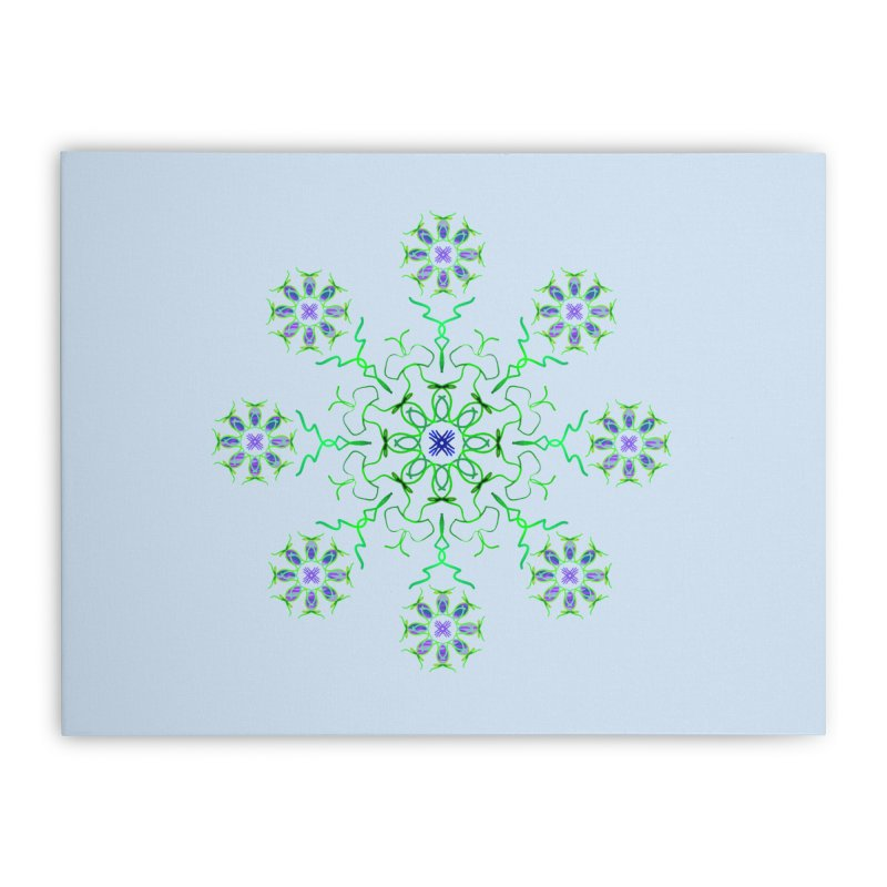 FlowerBurst Home Stretched Canvas by dotdotdottshirts's Artist Shop
