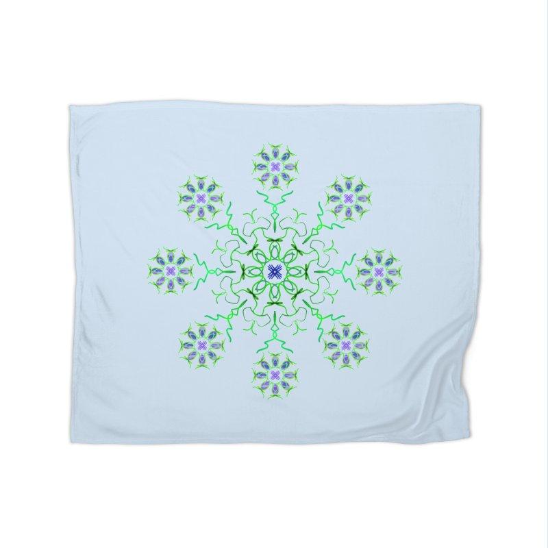 FlowerBurst Home Blanket by dotdotdottshirts's Artist Shop