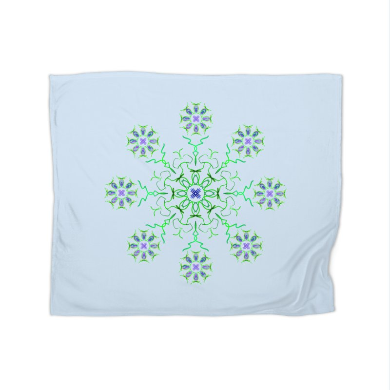 FlowerBurst Home Fleece Blanket Blanket by dotdotdottshirts's and textiles Artist Shop