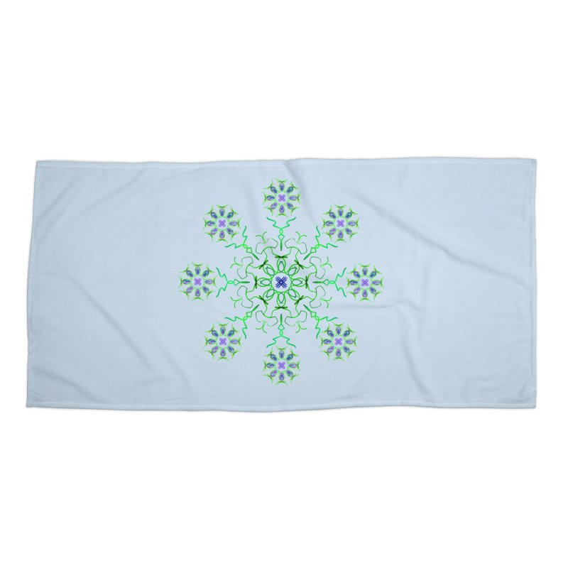 FlowerBurst Accessories Beach Towel by dotdotdottshirts's and textiles Artist Shop
