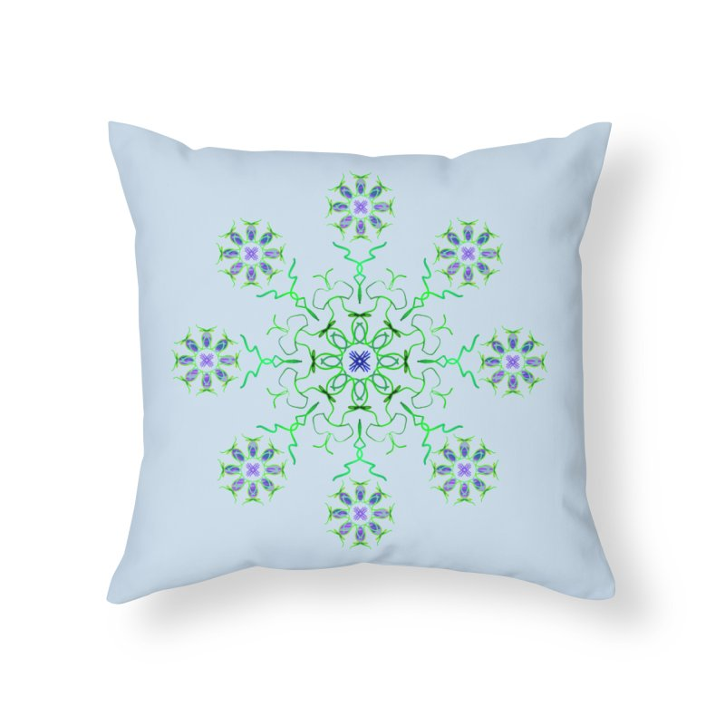 FlowerBurst Home Throw Pillow by dotdotdottshirts's Artist Shop