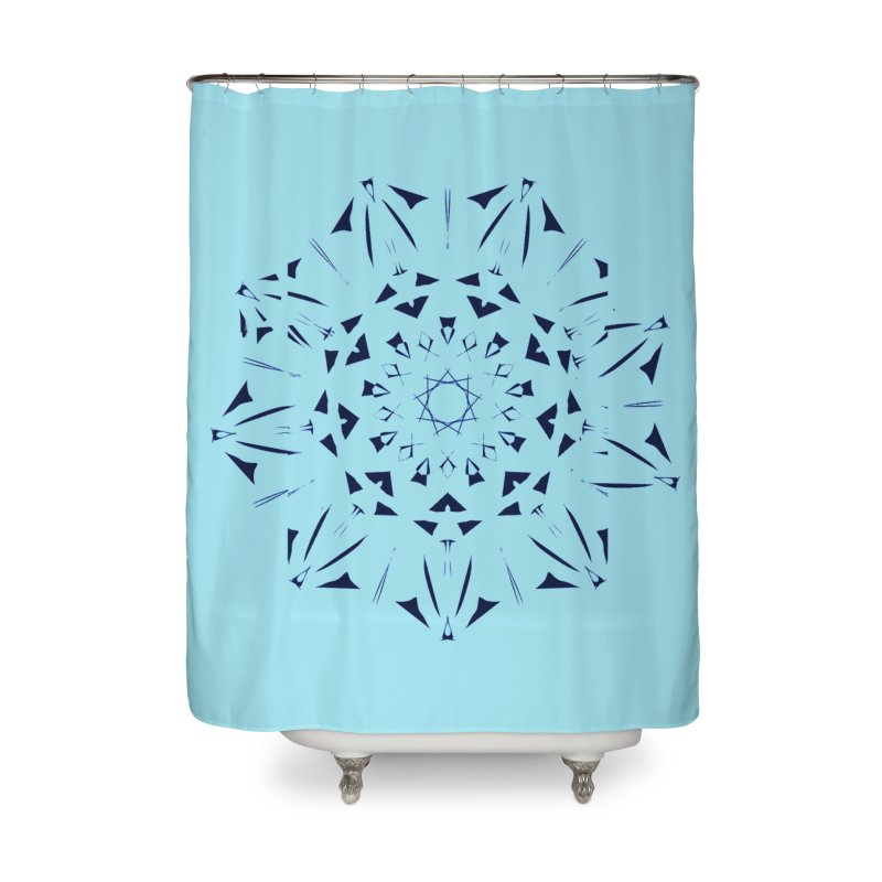 Blues are Cool Home Shower Curtain by dotdotdottshirts's and textiles Artist Shop