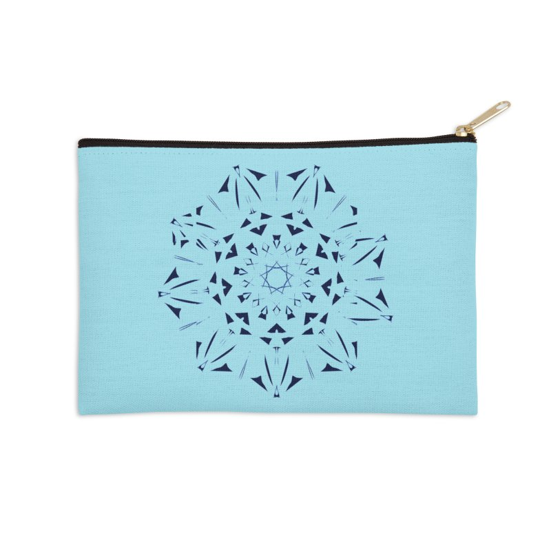 Blues are Cool Accessories Zip Pouch by dotdotdottshirts's and textiles Artist Shop
