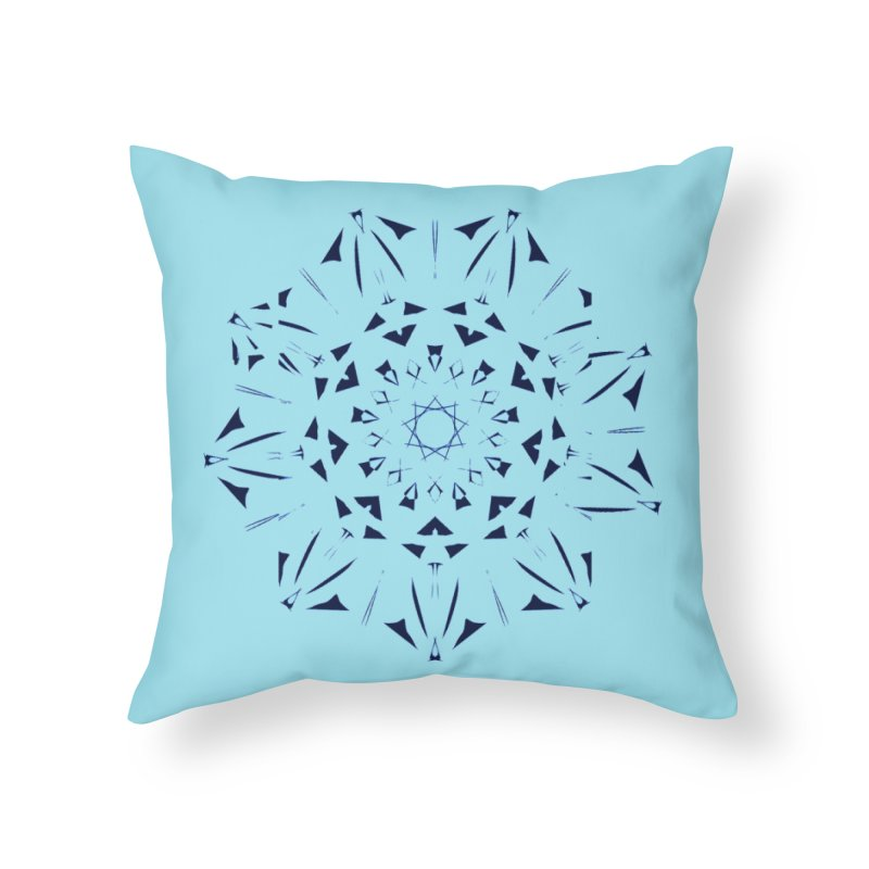 Blues are Cool Home Throw Pillow by dotdotdottshirts's Artist Shop
