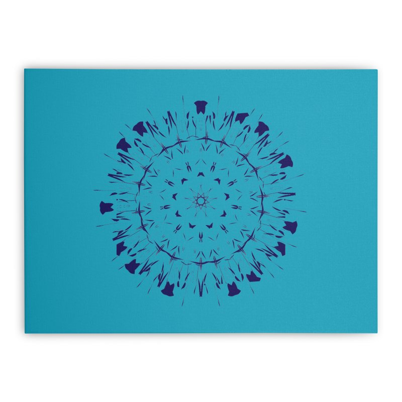 Blues are Cool too Home Stretched Canvas by dotdotdottshirts's Artist Shop