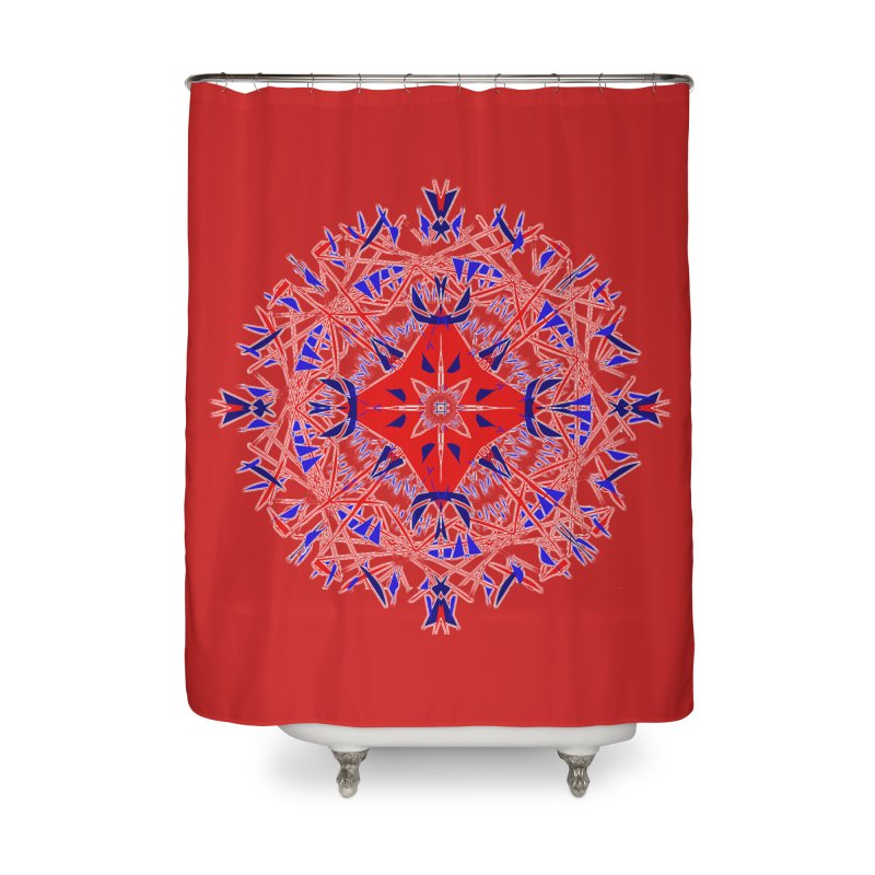 J4 Red Home Shower Curtain by dotdotdottshirts's Artist Shop