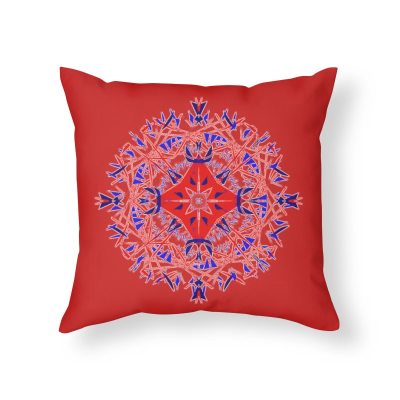 J4 Red Home Throw Pillow by dotdotdottshirts's Artist Shop