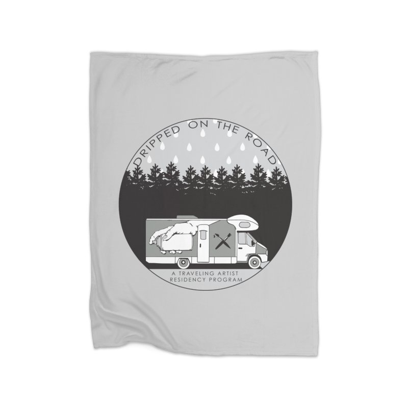 DOTR Logo Grey Home Blanket by Dripped On The Road Artist Shop