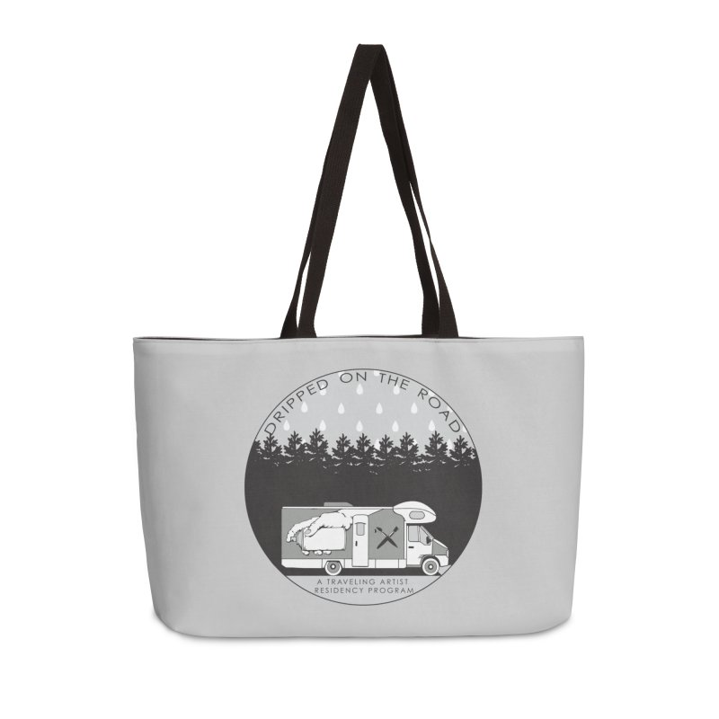 DOTR Logo Grey Accessories Weekender Bag Bag by Dripped On The Road Artist Shop