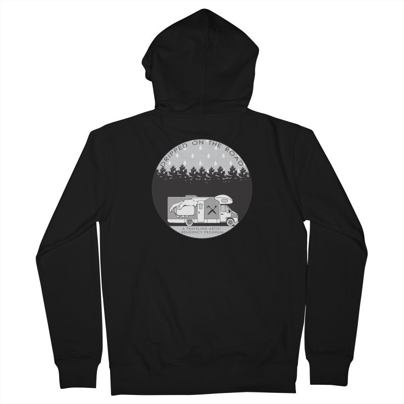 DOTR Logo Grey Women's Zip-Up Hoody by Dripped On The Road Artist Shop
