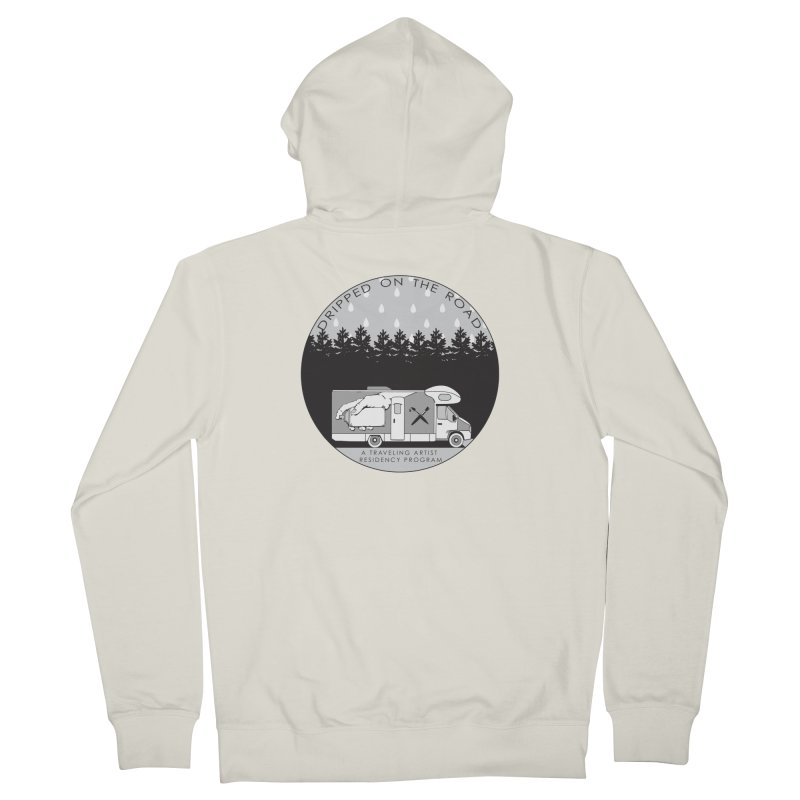 DOTR Logo Grey Women's French Terry Zip-Up Hoody by Dripped On The Road Artist Shop