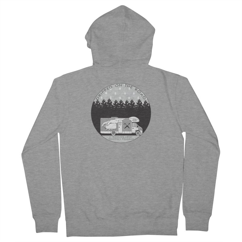 DOTR Logo Grey Men's French Terry Zip-Up Hoody by Dripped On The Road Artist Shop