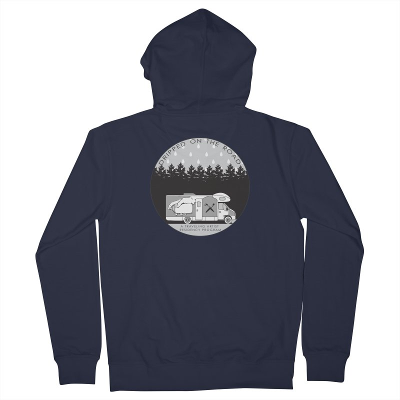 DOTR Logo Grey Men's Zip-Up Hoody by Dripped On The Road Artist Shop