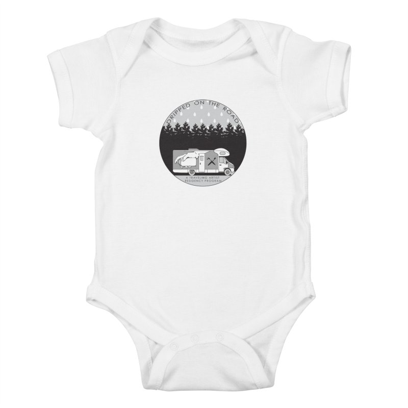 DOTR Logo Grey Kids Baby Bodysuit by Dripped On The Road Artist Shop