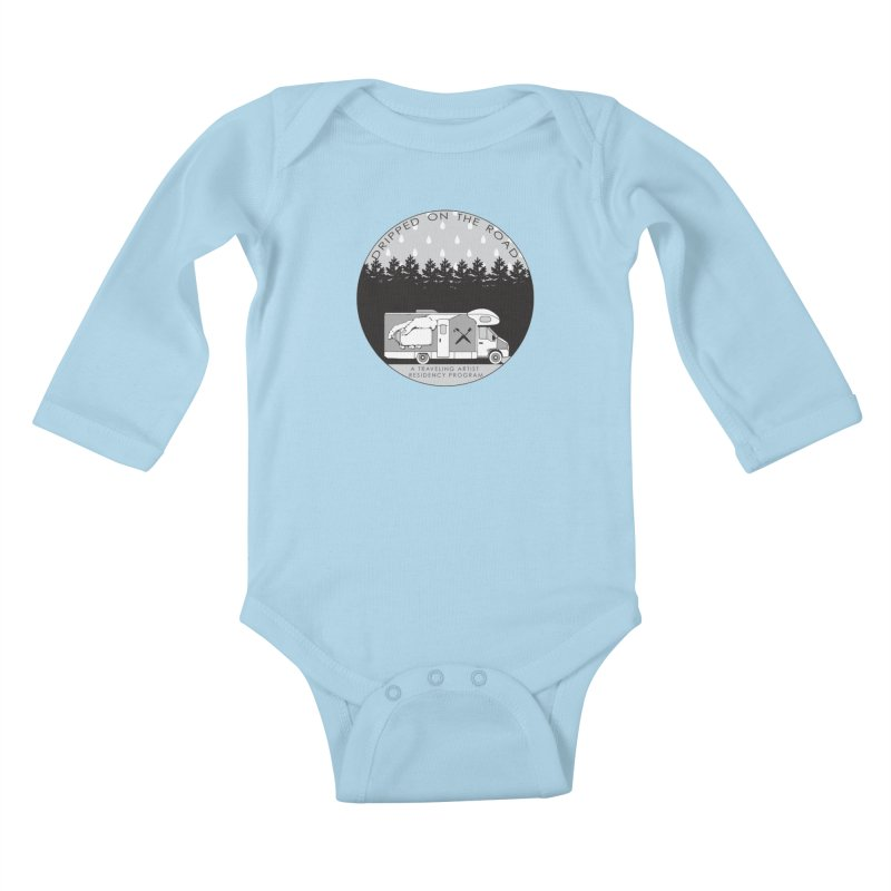 DOTR Logo Grey Kids Baby Longsleeve Bodysuit by Dripped On The Road Artist Shop
