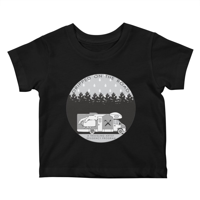 DOTR Logo Grey Kids Baby T-Shirt by Dripped On The Road Artist Shop
