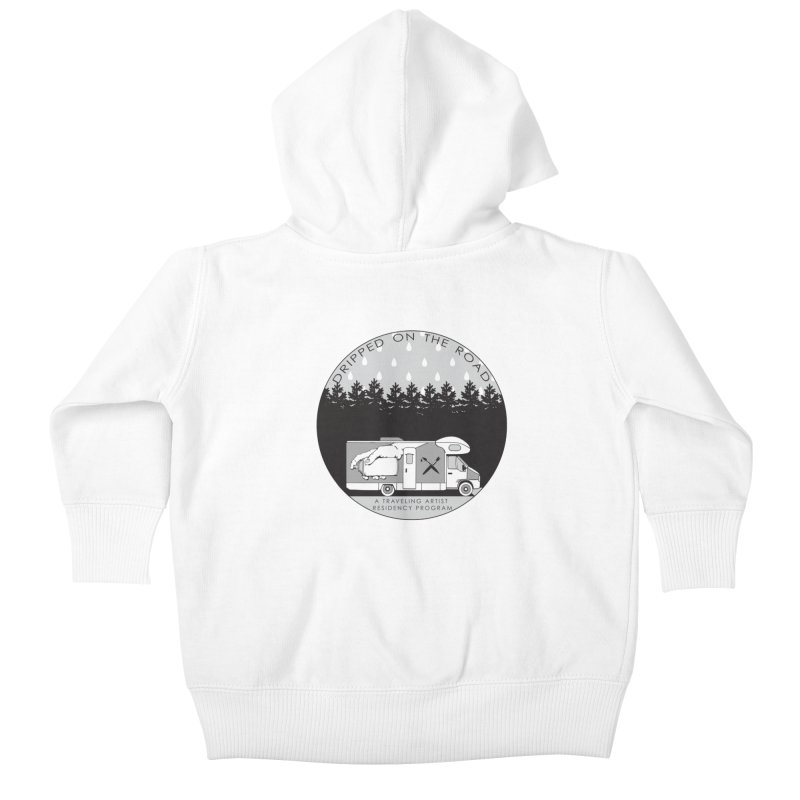 DOTR Logo Grey Kids Baby Zip-Up Hoody by Dripped On The Road Artist Shop