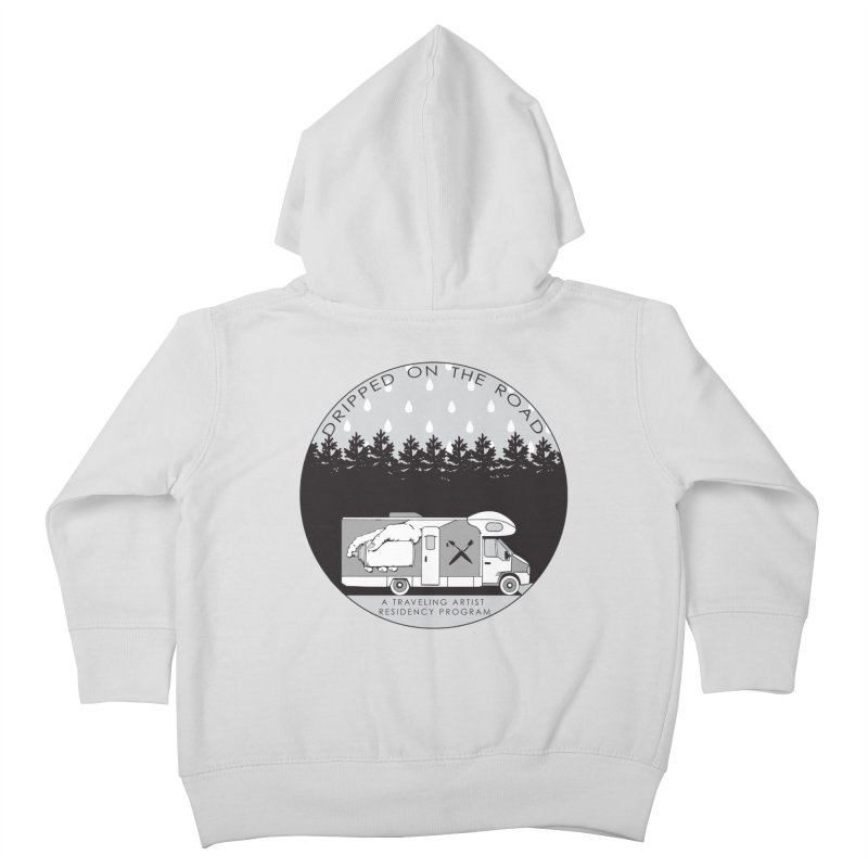 DOTR Logo Grey Kids Toddler Zip-Up Hoody by Dripped On The Road Artist Shop