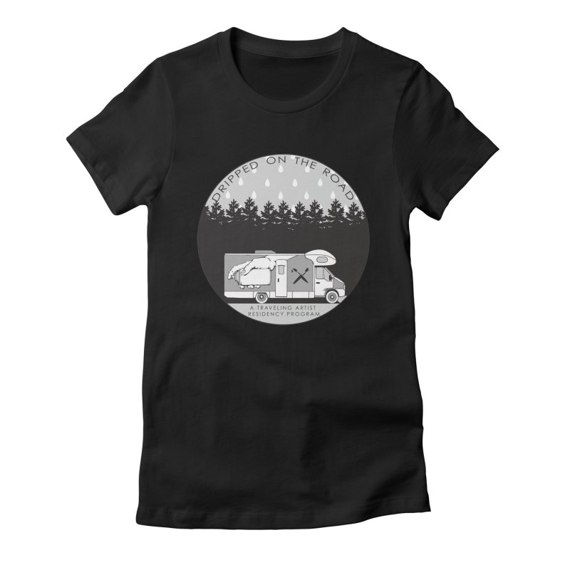 DOTR Logo Grey Women's Fitted T-Shirt by Dripped On The Road Artist Shop