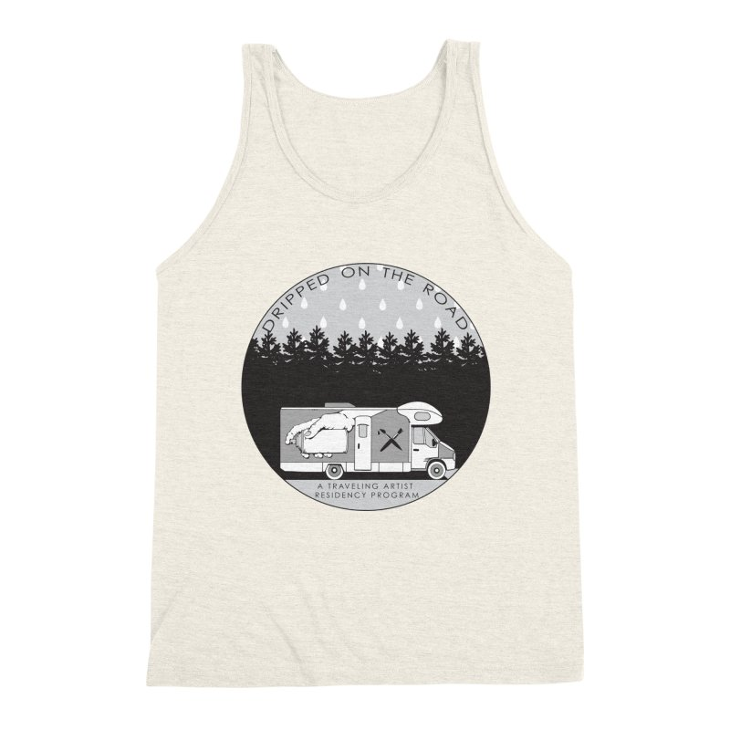 DOTR Logo Grey in Men's Triblend Tank Heather Oatmeal by Dripped On The Road Artist Shop