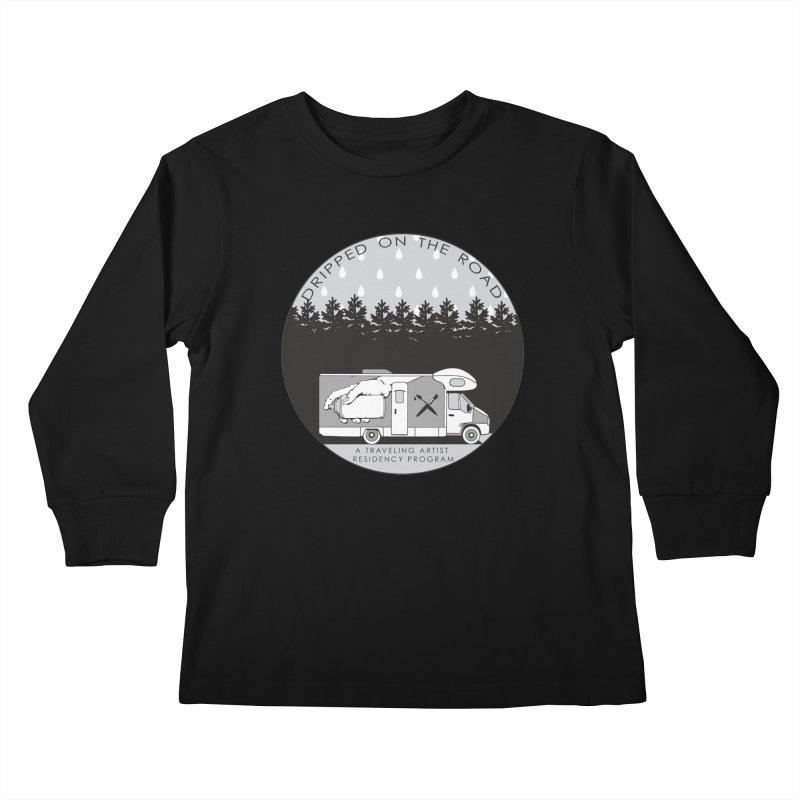 DOTR Logo Grey Kids Longsleeve T-Shirt by Dripped On The Road Artist Shop