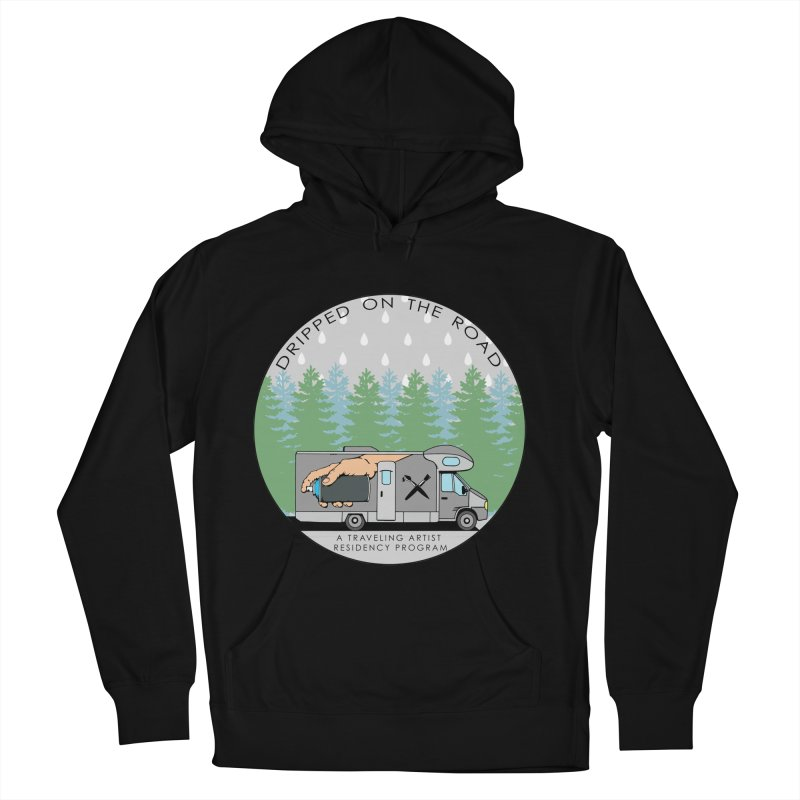 Dripped On The Road Logo Men's French Terry Pullover Hoody by Dripped On The Road Artist Shop