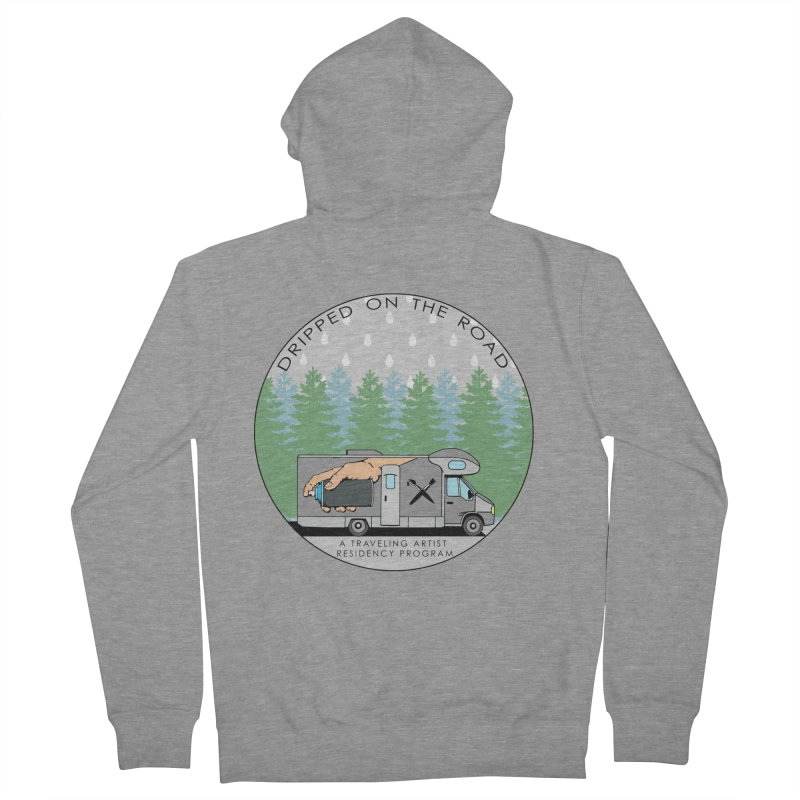 Dripped On The Road Logo Women's French Terry Zip-Up Hoody by Dripped On The Road Artist Shop