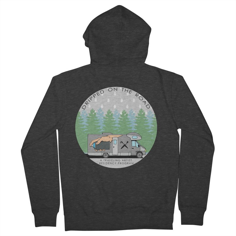 Dripped On The Road Logo Men's French Terry Zip-Up Hoody by Dripped On The Road Artist Shop