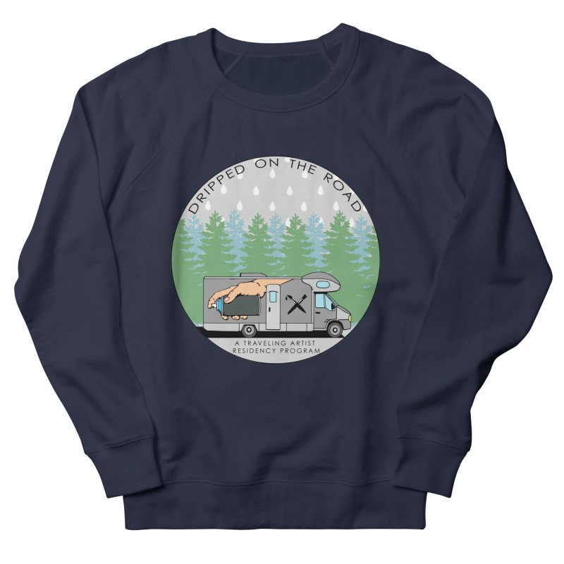 Dripped On The Road Logo Men's French Terry Sweatshirt by Dripped On The Road Artist Shop