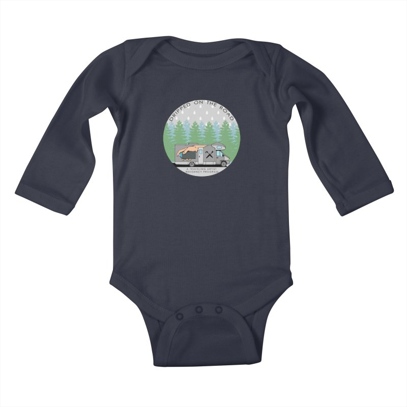 Dripped On The Road Logo Kids Baby Longsleeve Bodysuit by Dripped On The Road Artist Shop