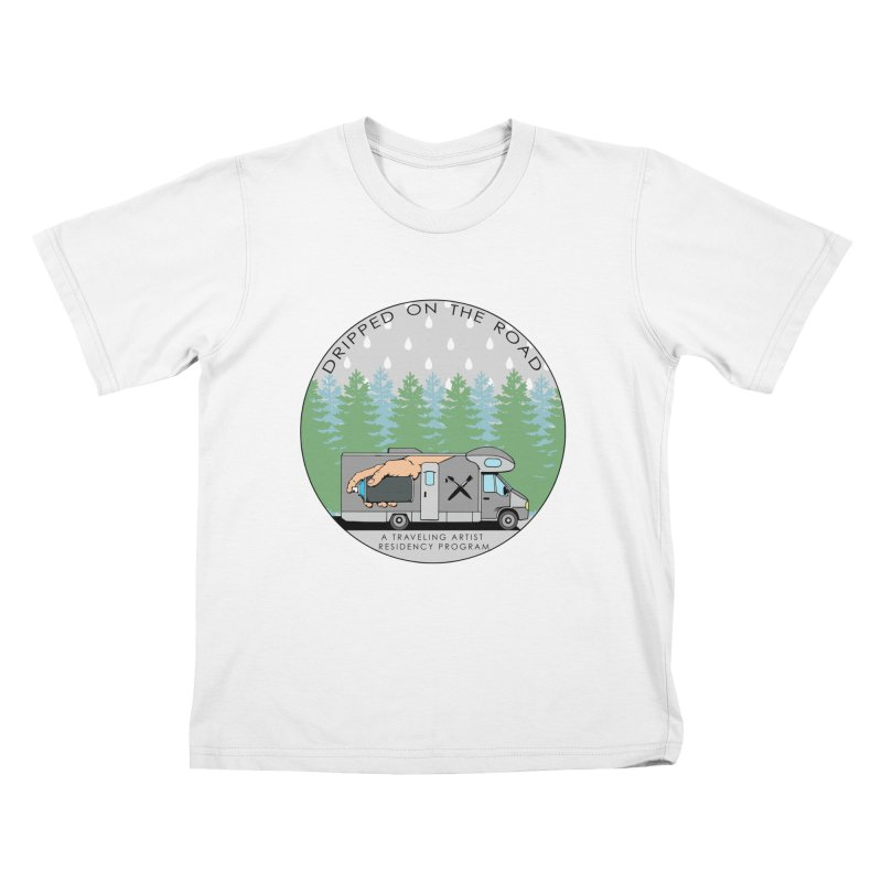 Dripped On The Road Logo Kids T-Shirt by Dripped On The Road Artist Shop