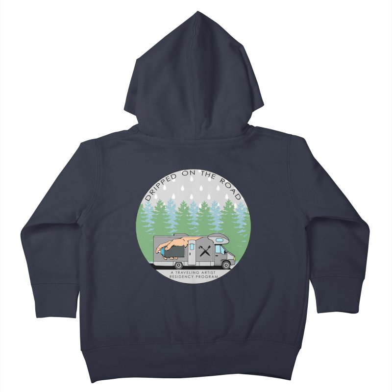 Dripped On The Road Logo Kids Toddler Zip-Up Hoody by Dripped On The Road Artist Shop