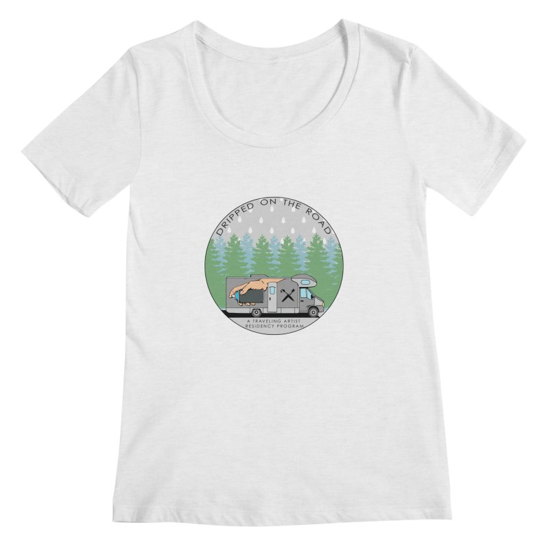Dripped On The Road Logo Women's Regular Scoop Neck by Dripped On The Road Artist Shop