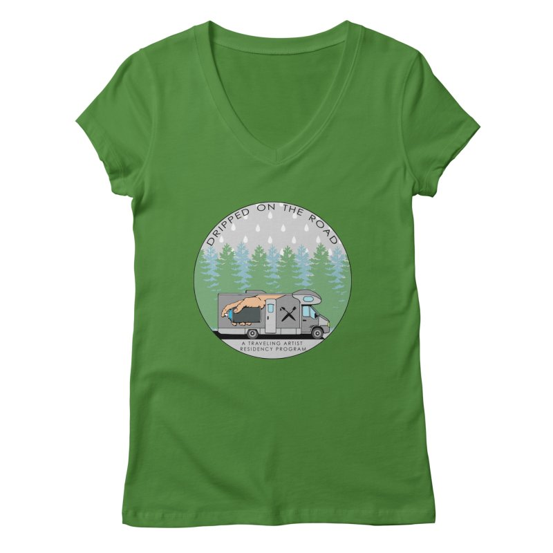 Dripped On The Road Logo Women's V-Neck by Dripped On The Road Artist Shop