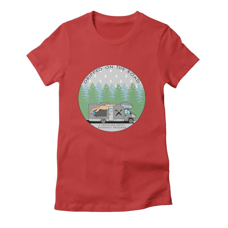 Dripped On The Road Logo Women's Fitted T-Shirt by Dripped On The Road Artist Shop