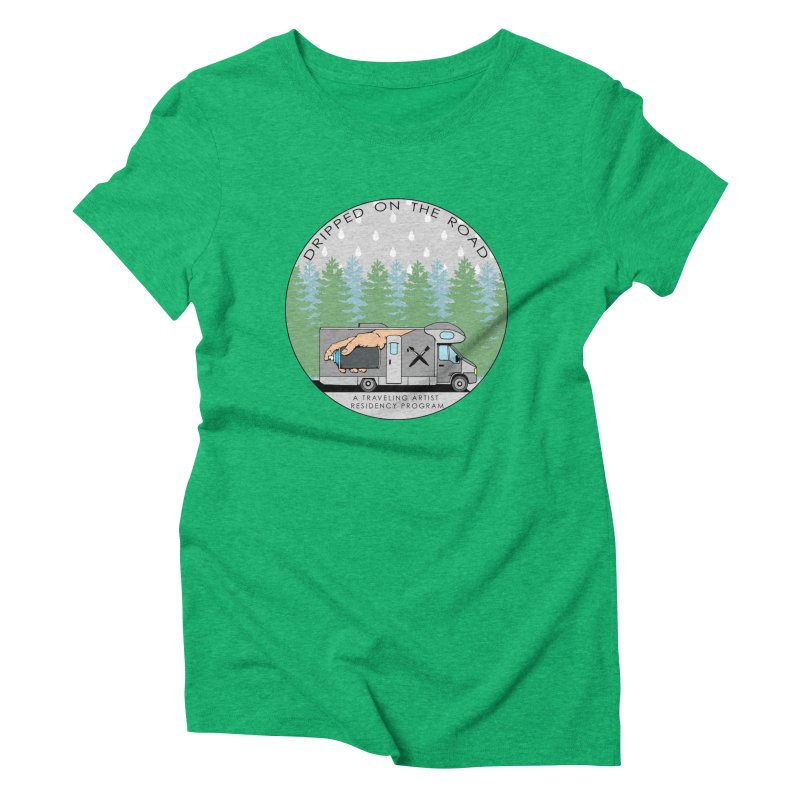 Dripped On The Road Logo Women's Triblend T-Shirt by Dripped On The Road Artist Shop