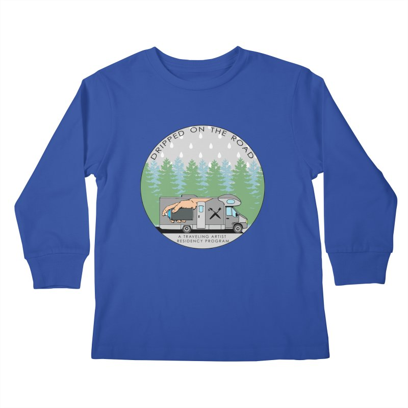 Dripped On The Road Logo Kids Longsleeve T-Shirt by Dripped On The Road Artist Shop