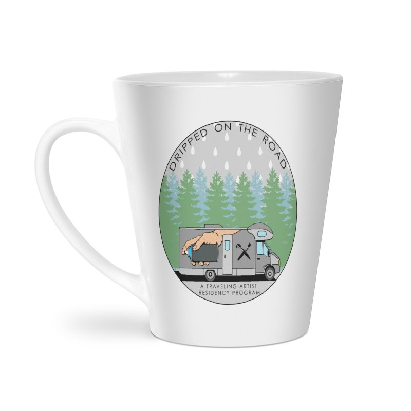 Dripped On The Road Logo Accessories Latte Mug by Dripped On The Road Artist Shop