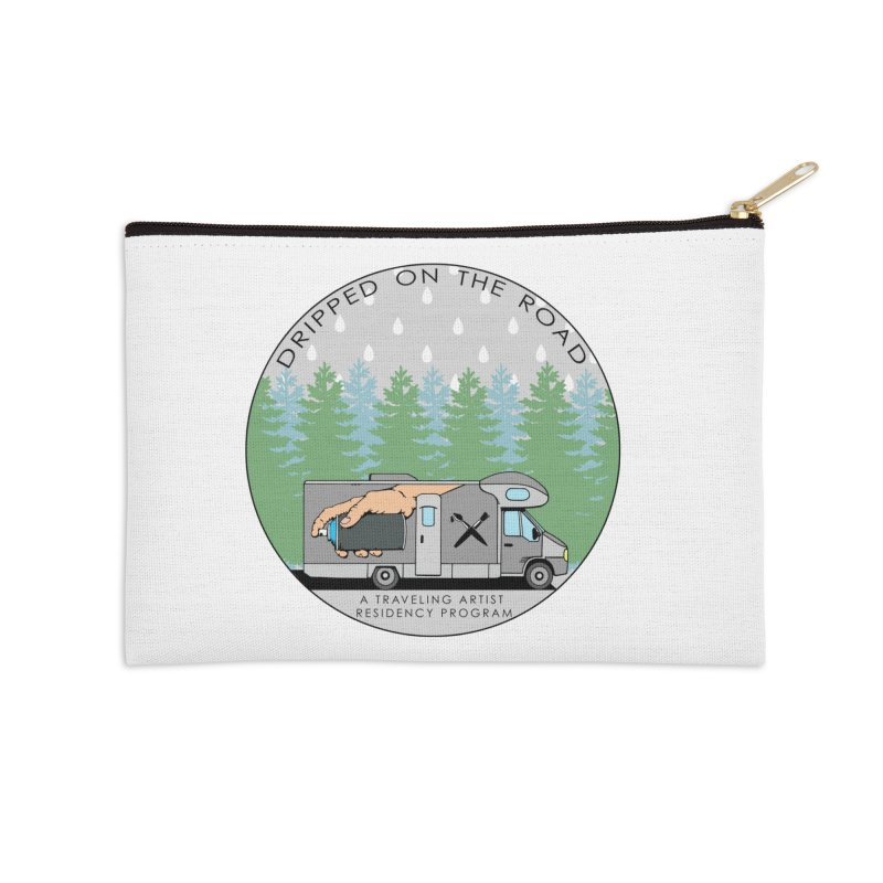 Dripped On The Road Logo Accessories Zip Pouch by Dripped On The Road Artist Shop