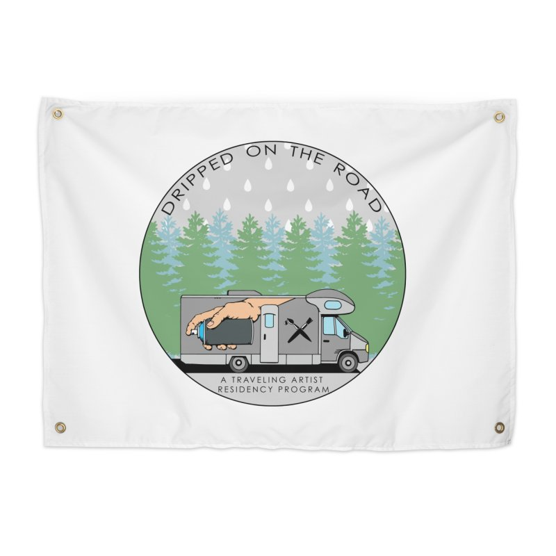 Dripped On The Road Logo Home Tapestry by Dripped On The Road Artist Shop