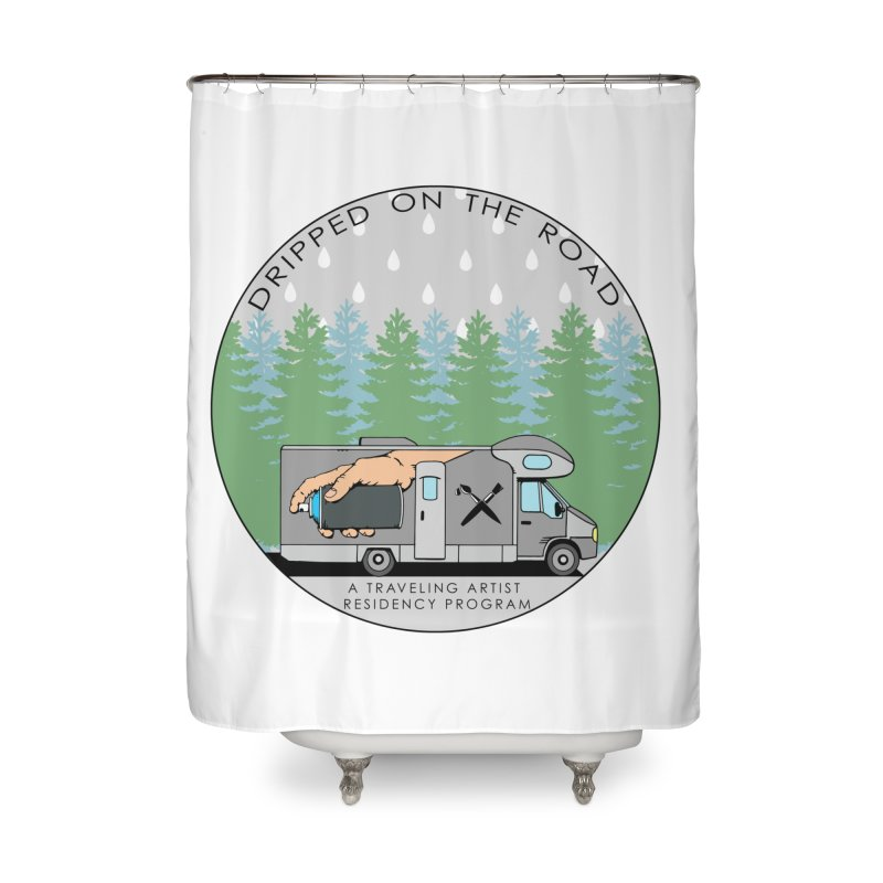 Dripped On The Road Logo Home Shower Curtain by Dripped On The Road Artist Shop