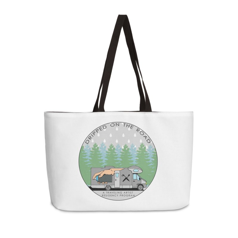 Dripped On The Road Logo Accessories Weekender Bag Bag by Dripped On The Road Artist Shop