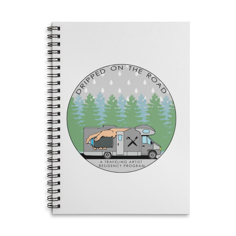 Dripped On The Road Logo Accessories Lined Spiral Notebook by Dripped On The Road Artist Shop