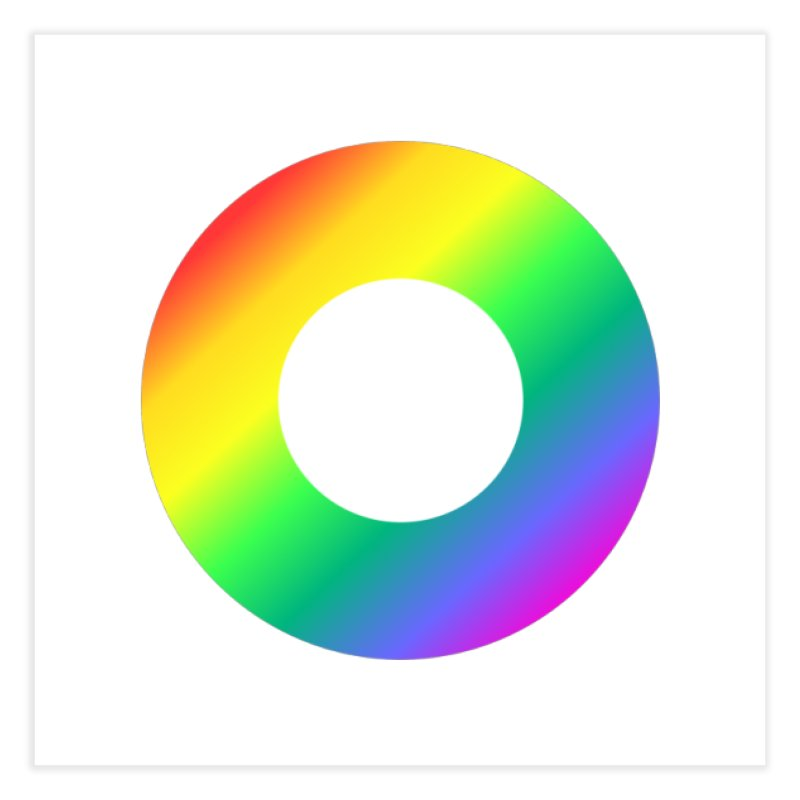 The Rainbow Collection Home Fine Art Print by Dot HQ