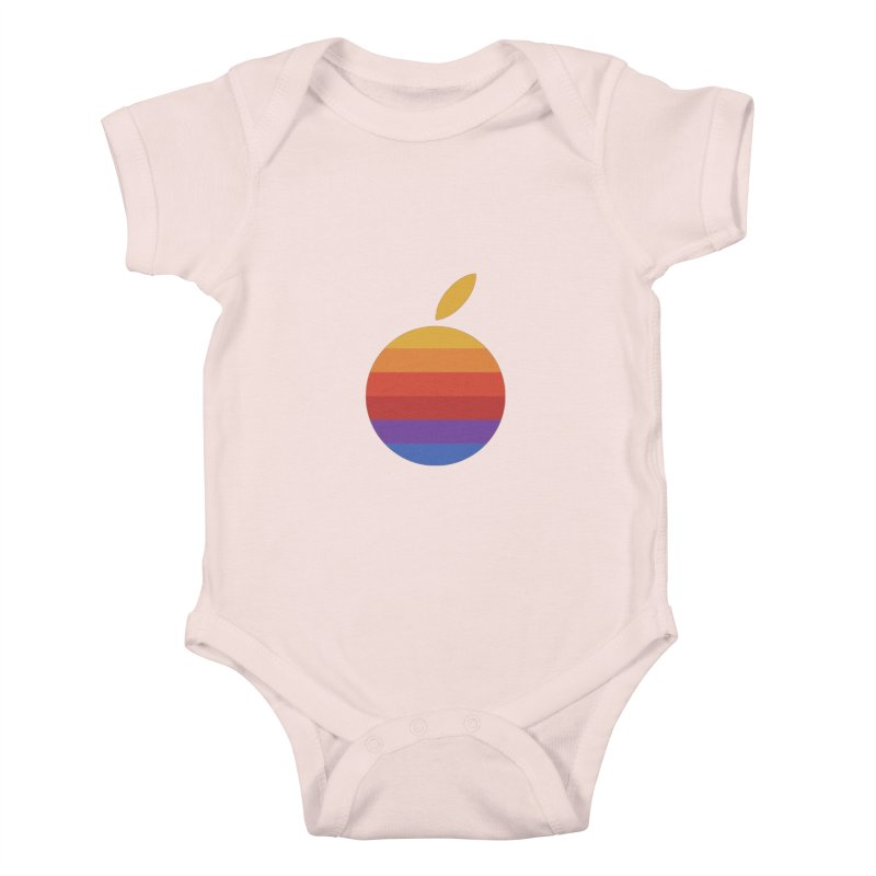 Dotintosh™ Logomark Kids Baby Bodysuit by Dotintosh™ Official Merch