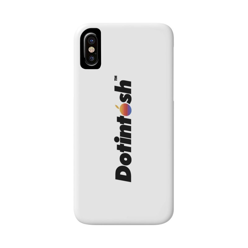 Dotintosh™ Logotype in iPhone X / XS Phone Case Slim by Dotintosh™ Official Merch