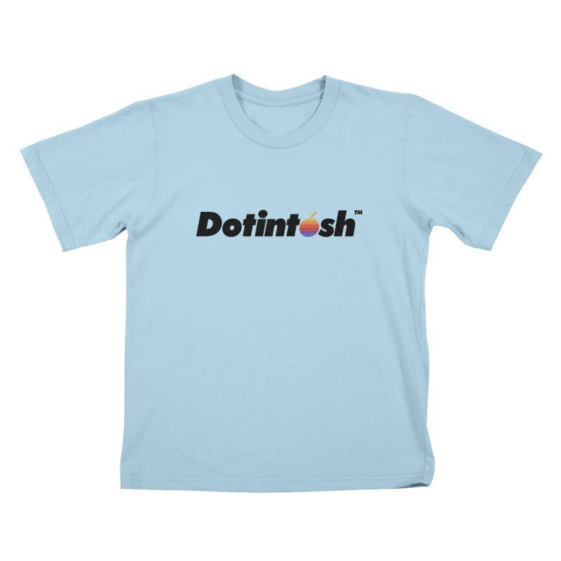 Dotintosh™ Logotype Kids T-Shirt by Dotintosh™ Official Merch