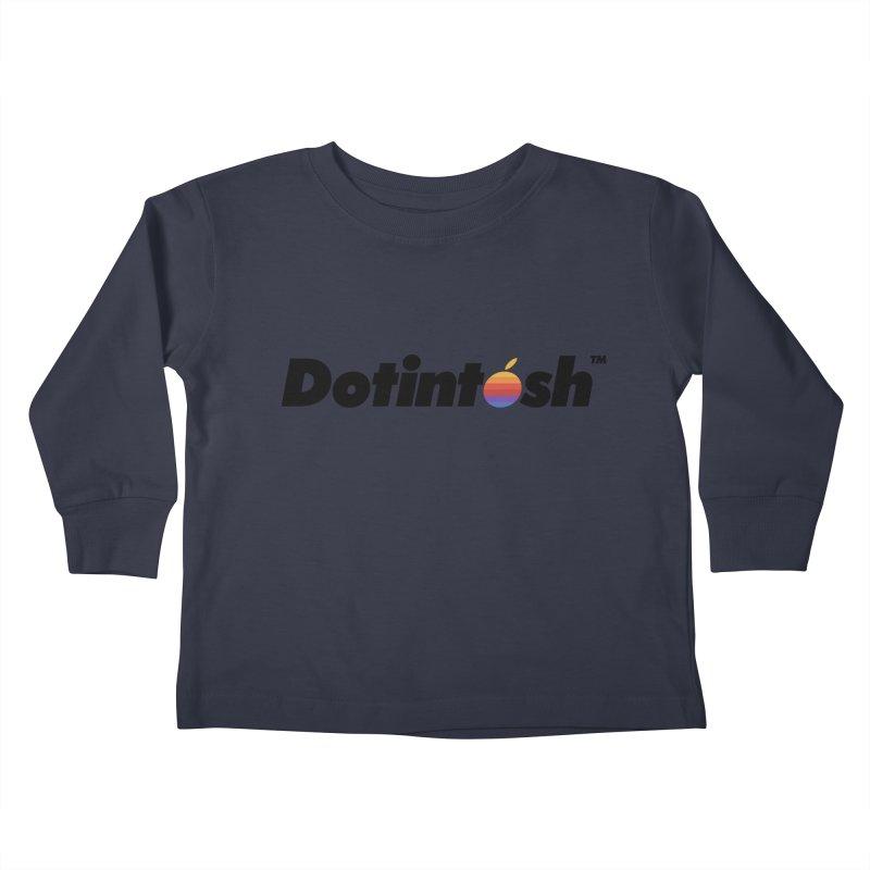 Dotintosh™ Logotype Kids Toddler Longsleeve T-Shirt by Dotintosh™ Official Merch